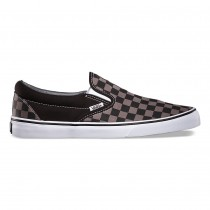 vans classic checkerboard slip-on black/ pewter check