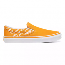 vans classic slip-on logo repeat/ cadmium yellow/ true white
